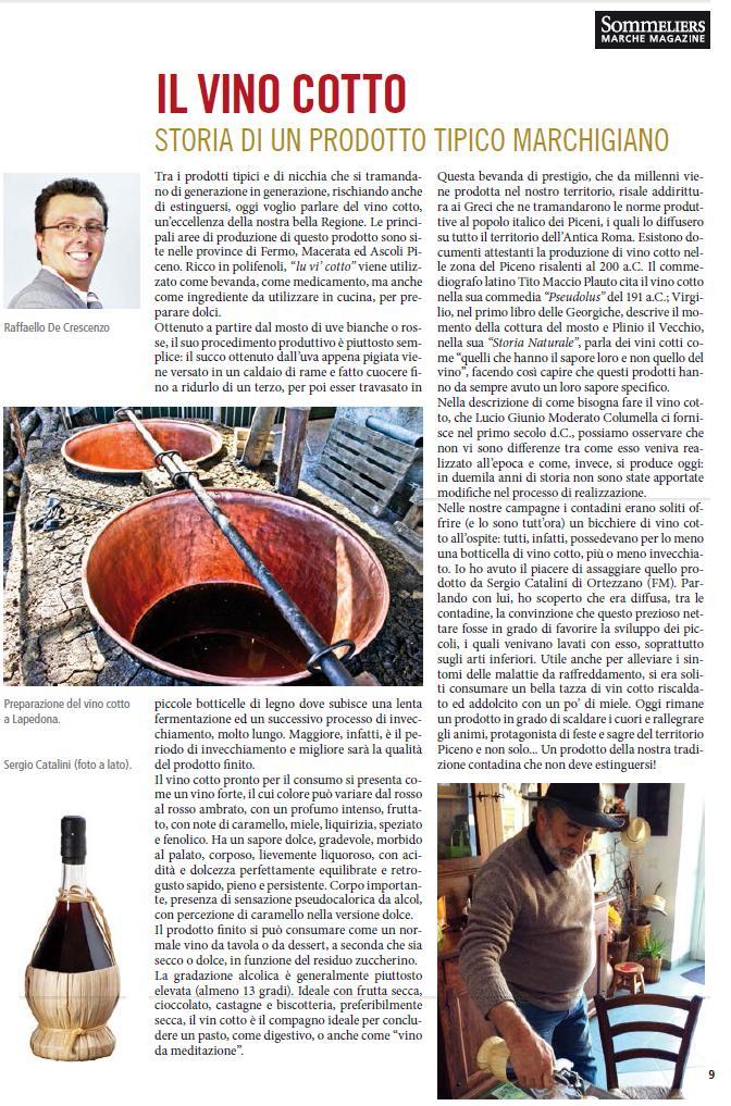 Articolo Vino Cotto - Aprile 2015
