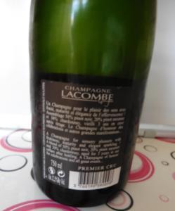 Champagne Lacombe - controetichetta