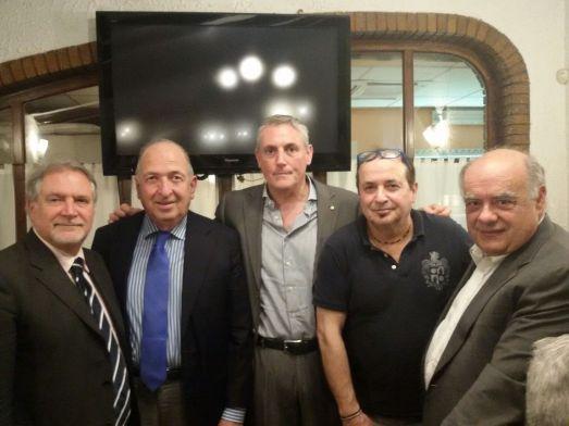 da sinistra D'Angelo, Serri, Marani, chef Dalmazio Rossi e Marinelli
