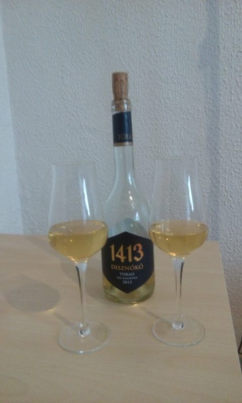 Diszonoko Tokaji 2012 - fronte + bicchieri