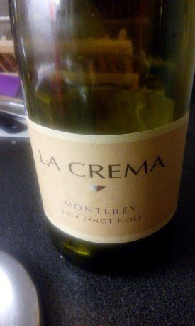 La Crema Monterey, Pinot Noir. 2014. Etichetta Fronte.