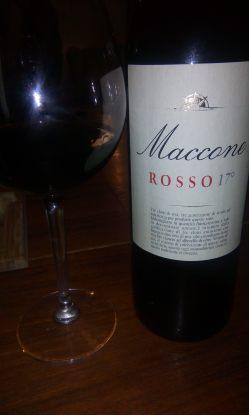 Maccone Rosso 17° con bicchiere