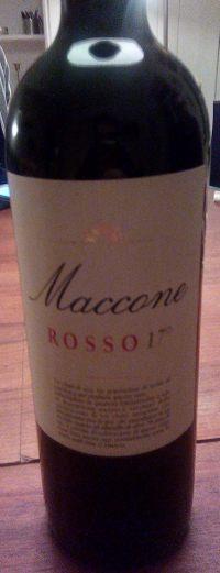 Maccone Rosso 17° - etichetta