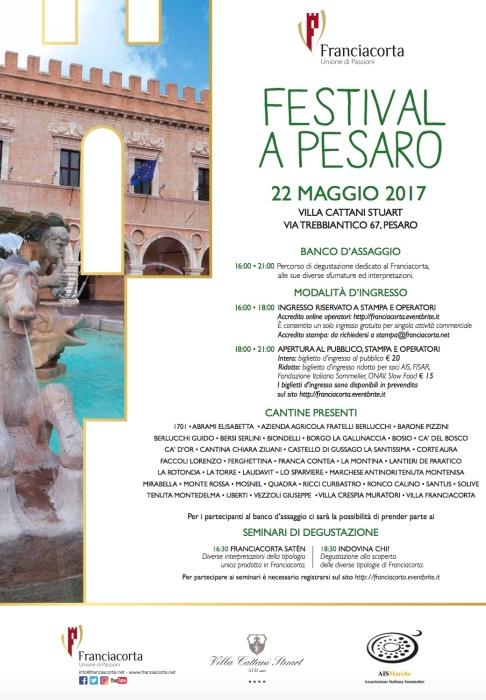 Franciacorta Festival Pesaro 2017